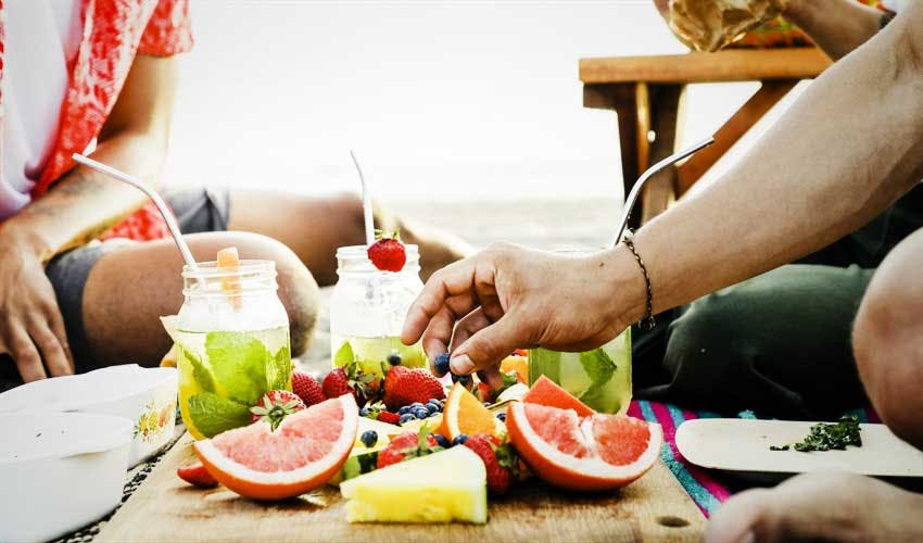 Eat Water-Rich Fruits and Vegetables