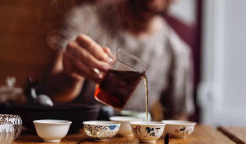 Tea and alkaline water