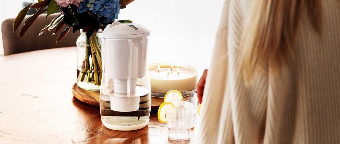 Gentoo Glass Alkaline Water Filter Jug (White)