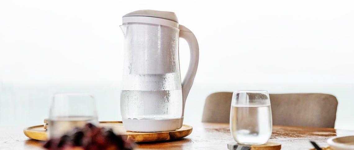 Gentoo Lite Alkaline Water Filter Jug (Grey and White)
