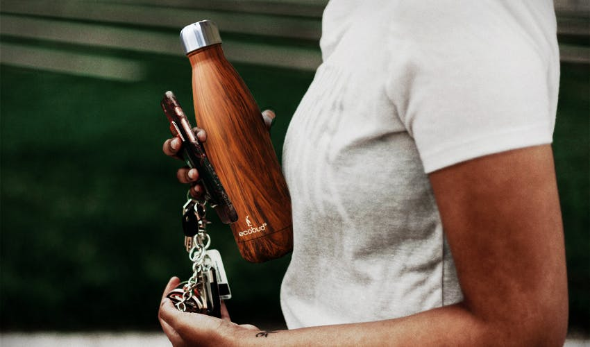 keep a reusable water bottle nearby